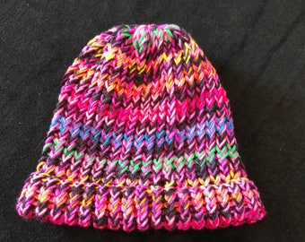 Bright color knit hat