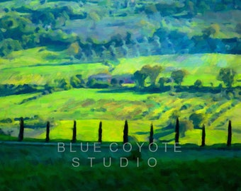 Tuscany Print, Italy Print Tuscany Landscape Print Tuscany Wall Art Digital Download Printable File #bc118