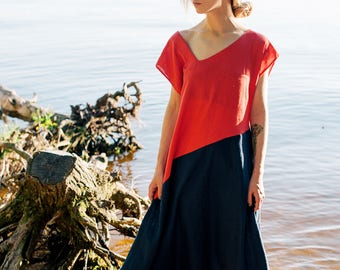 Linen dress Dhriti, maxi dress, dress-meditation, long dress, yoga dress, boho dress