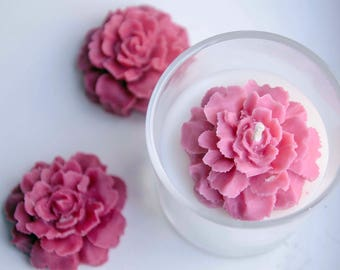 Rose 100% Soy Container Scented Candle with Soy Rose