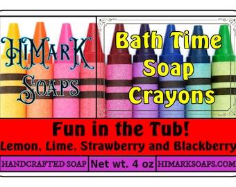 Bath Crayon Soaps in fun, fruity flavors!