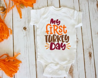 My First Thanksgiving! / Baby Thanksgiving Shirt / Infant Thanksgiving Shirt / My First Thanksgiving Onesie