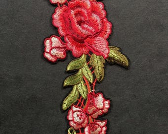 Applique Flower Embroidery - Rose Embroidery - Gucci Inspired Patch