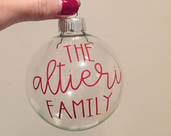 Custom Christmas Ornament | Glass Ball Ornament