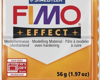 57 g translucent Effect Fimo clay Orange 8020.404 - polymer clay