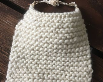 Wool Knit Baby Bib
