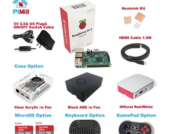 PiMill Raspberry Pi 3 Model B Do-It-Yourself (DIY) Kit