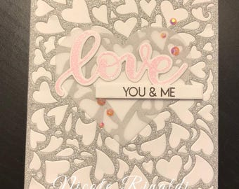 Love Glitter Greeting Card