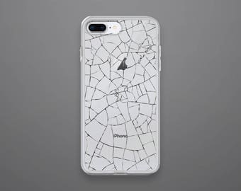 IPhone X Case 8 Clear Cracked Glass 7