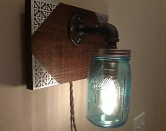 Southern style Mason Jar wall sconce lamp