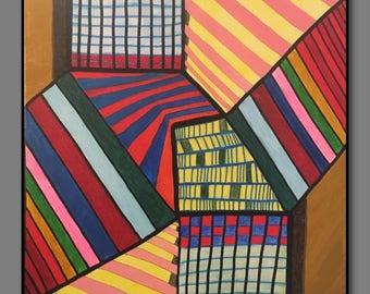 Abstract Painting Original Art  -Pressure