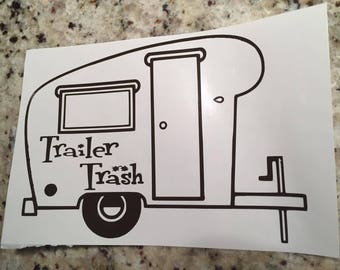 Trailer Trash Decal Vinyl