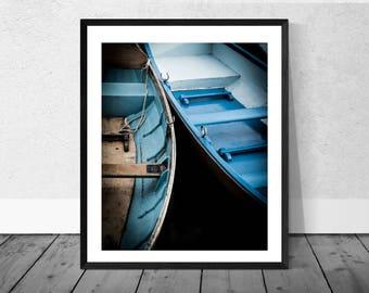Henley Art Print, Henley Photography, Boat Photography, Blue Boats, Henley on Thames, Colour Photography, Home Décor, Giclee Print, Boat Art
