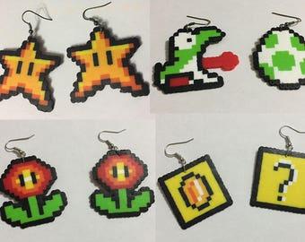 Mario Inspired Earrings