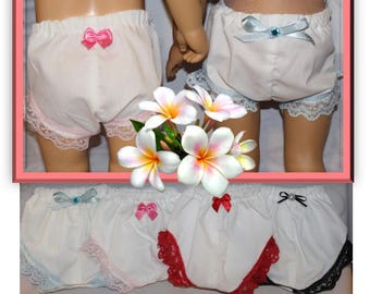 """One Lace Trimmed White Panty / Bloomer for 18"""" & 20"""" tall dolls. Clothes will fit vintage Chatty Cathy dolls and American Girl Sized Dolls."""