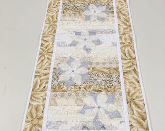 Silver and gold table runner