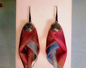 Collection silk earrings Cherry Blossom