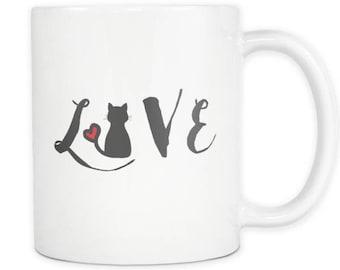 Cat Love Ceramic Mug