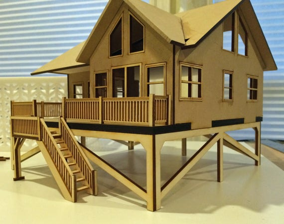 Quarter Scale Beach House KIT Custom Laser Cut