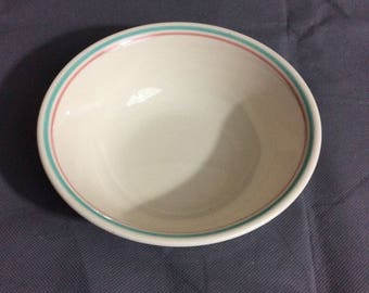 "Vintage Corelle by Corning Forever Yours Salad or Soup Bowl Stripe Trim 6 1/4"" diameter"