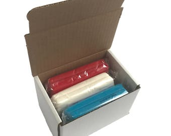 45oz red white and blue fondant 4th of July cake decoration pack (thin-rolling and hydrogenated fat free)