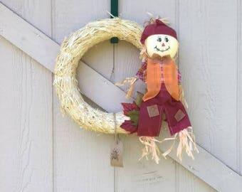 "8"" Scarecrow Wreath"