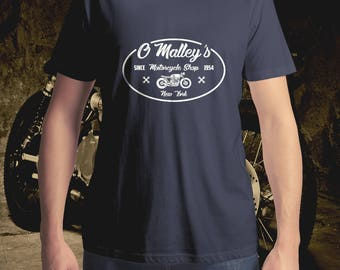 O'Malley's Cafe Racer, Vintage Motorcycle T-Shirt, Motorcycle T-Shirt, Men's T-Shirt, Women's T-Shirt, Motorbike T-Shirt, Classic Bike Shirt
