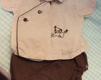 Vintage Newborn baby boy outfit