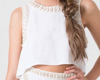 Lost Lorelei White Siren Bohemian Mermaid Tank Top