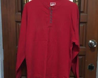 VTG Marlboro Full Red Men's Casual Long Sleeve Cotton Shirt-True Large