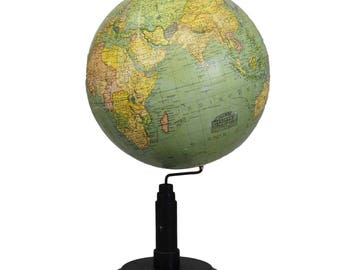 antique Columbus earth globe by Paul Oestergaard - Berlin ca.1900