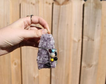 Amethyst Cluster Wall Hanging