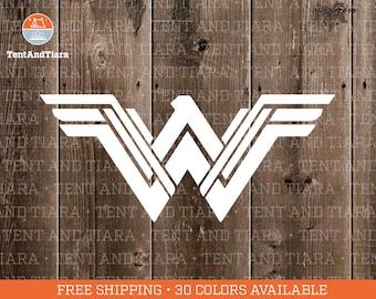 NEW Wonder Woman Logo - Vinyl Decal, Car Decal, Laptop Decal, Water Bottle Decal, Bumper Sticker, Yeti Tumbler Decal, DC Comics, Super Hero