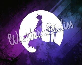 Kingdom Hearts Sora Graphic Art Print