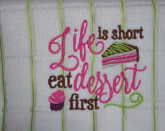 Microfiber Embroidered Kitchen Towel