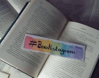 Rainbow #Bookstagram Bookmark (Hashtag Colourful Booksagramer)