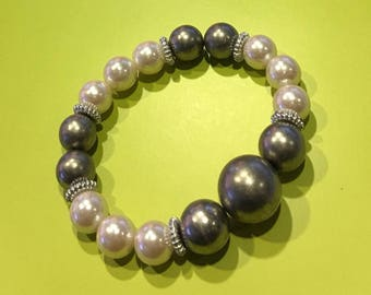 Silver /White Pearl Bracelet