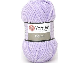 Dolce Yarn Art Crochet yarn Yarn for knitting Yarn with velour effect Hypoallergenic Polyester yarn Summer yarn Hand knit yarn Color choice