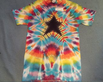 "tie dye t-shirt adult small""candy star"""