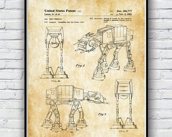Star Wars ATST Walker Poster, Star Wars ATST Walker Poster Print, Available in 4 sizes
