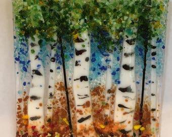 Suncatcher aspen trees