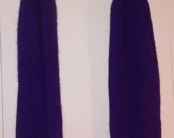 Purple Vintage Leg Warmers