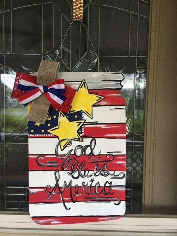 Independence Day Door Hanger Fourth Of July Door Hanger