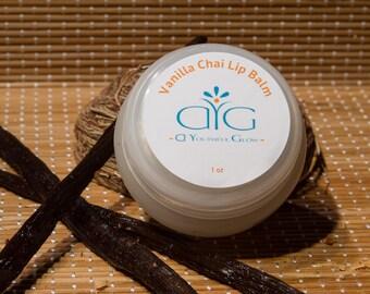 A Youthful Glow - Organic Vanilla Chai Lip Balm (1 oz)
