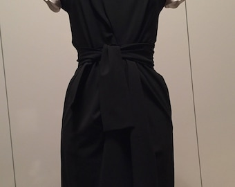 DKNY bateau neck black dress size S