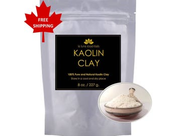 100% Natural Kaolin Clay - FREE SHIPPING - Facial Scrub and Spot Treatment
