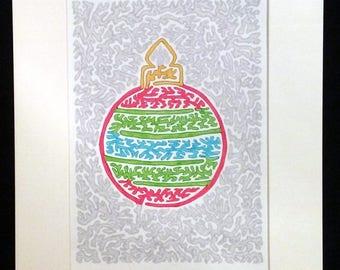 Christmas Ornament - Original Artwork, Multi-Color