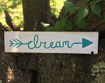 Dream Arrow Painted Plaque