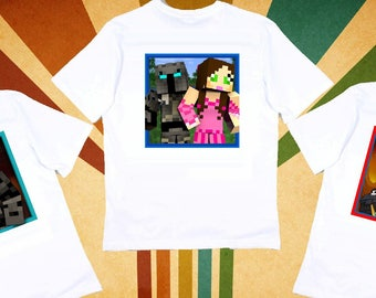 PopularMMO Pat And Jen Childrens Kids Tshirt YouTube Fan