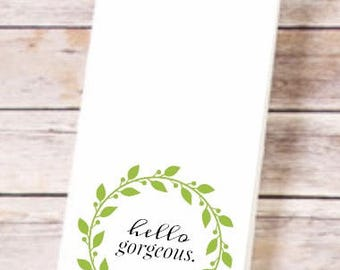 Funny, Flirt, Tea Towel, Kitchen Towel, Flour Sack Towels, Kitchen Decor, Hostess Gift, Kitchen Towels, Dish Towel, Kitchen Towel